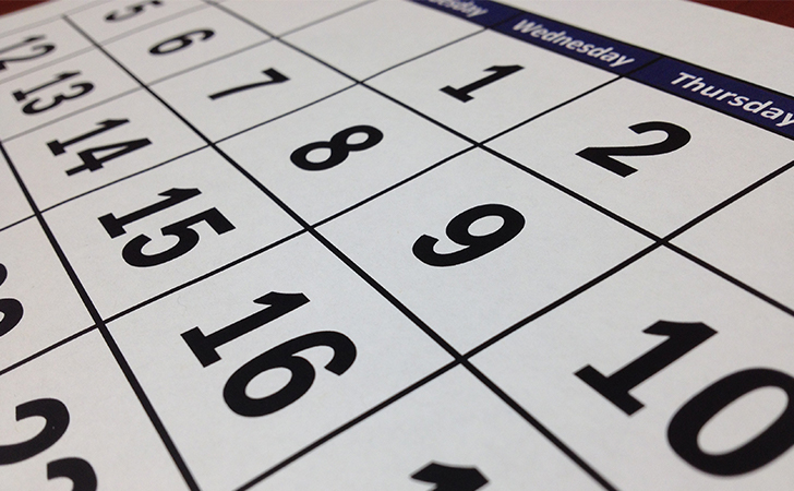 Sample Blogging Calendar for Churches